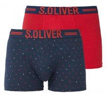 s.Oliver Sada pánských boxerek 26.899.97.5600.17G1 Blue Aop & Solid Red S