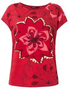 Desigual Dámské triko TS Lucil Rojo Oscuro 19WWTKA9 3029 XL