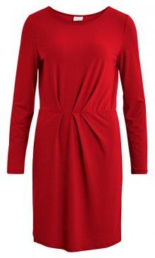 Vila Dámské šaty VICLASSY L/S DETAIL DRESS - FAV Ketchup XS
