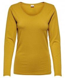 Jacqueline de Yong Dámské triko JDYAVA L/S TOP JRS NOOS Harvest Gold XS