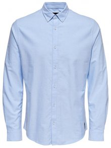 ONLY&SONS Pánská košile ONSOXFORD SOLID LS VD Cashmere Blue S
