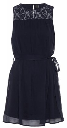 Vero Moda Dámské šaty Alia S/L Short Dress Wvn Night Sky M