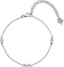 Hot Diamonds Stříbrný náramek pro narozené v dubnu Anais bílý Topaz AB004