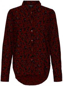 Vero Moda Dámská košile VMNICKY L/S SHIRT COLOR/AOP Port Royale ANNIE XS