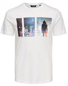 ONLY&SONS Pánské triko ONSBERNIE SS CAMP TEE White S