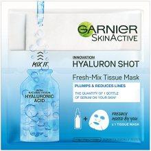 Garnier Textilní maska s kyselinou hyaluronovou pro hydratovanou a vypnutou pleť (Fresh Mix Tissue Mask) 6 g