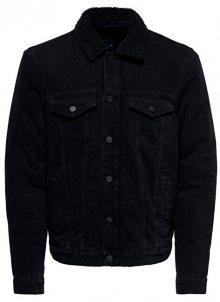 ONLY&SONS Pánská bunda ONSLOUIS JACKET BLACK PK 3592 NOOS Black Denim S