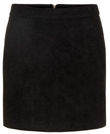 Vero Moda Dámská sukně VMDONNADINA FAUX SUEDE SHORT SKIRT NOOS Black XS