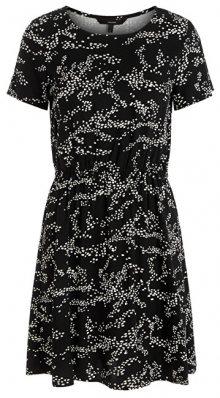 Vero Moda Dámské šaty VMAUTUMN AMAZE S/S SHORT DRESS WVN LCS Black XS