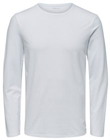SELECTED HOMME Pánské triko SLHBASIC LS O-NECK TEE B NOOS Bright White S
