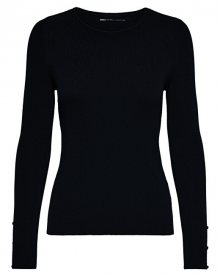ONLY Dámský svetr ONLIZA L/S PULLOVER KNT Black XS