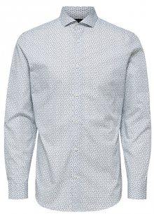 SELECTED HOMME Pánská košile SLHSLIMSEL-WOODY SHIRT LS AOP B Bright White AOP Tops A 12 S