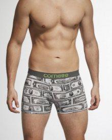 Cornette Dollars 508/88 šedé Pánské boxerky L šedá