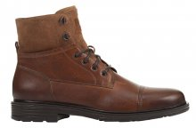 GEOX Pánské kotníkové boty U Alberick Cognac U947SA-0FF22-C6001 41