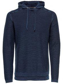 ONLY&SONS Pánský svetr Wincent 12 Hoodie Knit Dark Navy M