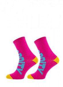 Freak Feet Dlouhé dámské ponožky 39-41 růžová