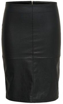 ONLY Dámská sukně Ticket Faux Leather Skirt Otw Noos Black 34