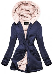 MODOVO Dámska zimní bunda s kapucí W806 tmavěmodrá