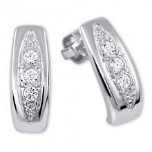 Brilio Silver Překrásné náušnice s krystaly 436 001 00162 04
