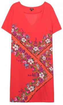 Desigual Dámské šaty Vest Damis Rojo Clavel 19WWVW86 3036 42