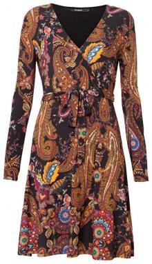 Desigual Dámské šaty Vest Cira Negro 19WWVKAE 2000 XS