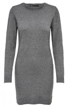 ONLY Dámské šaty ONLBRENDA L/S DRESS KNT Medium Grey Melange L