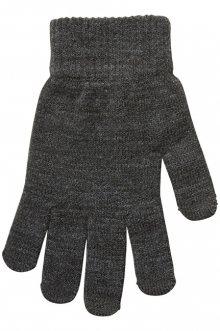 Vero Moda Dámské rukavice VMVILDE SMARTPHONE FINGERGLOVES Dark Grey Melange