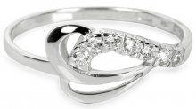 Brilio Prsten z bílého zlata s krystaly 229 001 00583 07 - 1,30 g 55 mm