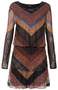 Desigual Dámské šaty Vest Ocrida Fresa 19WWVKA4 3001 S