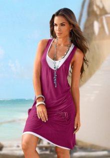 BEACHTIME Plážové šaty Beachtime jahodová 46