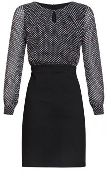 Smashed Lemon Dámské šaty 19518 Black white/Red S