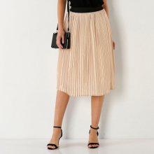 Blancheporte Plisovaná sukně s pružným pasem růžová 42/44