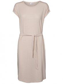 Vero Moda Dámské šaty Ava Plain Ss Knee Dress Vma Sepia Rose XL