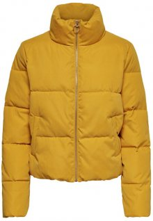 ONLY Dámská bunda ONLDINA SHORT QUILTED PUFFER CC OTW Golden Yellow S