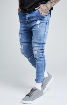Džíny Blue Ripped SikSilk Ultra Denims modrá S