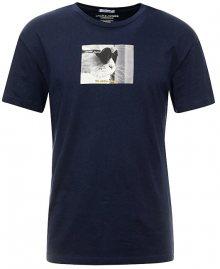 Jack&Jones Pánské triko JORGILBERT ANIMAL TEE SS CREW NECK Navy Blazer S