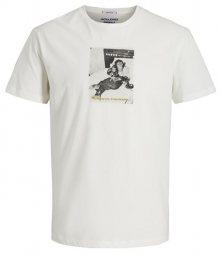 Jack&Jones Pánské triko JORGILBERT ANIMAL TEE SS CREW NECK Cloud Dancer S
