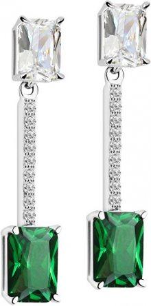 Morellato Stříbrné náušnice se zelenými krystaly Tesori SAIW56