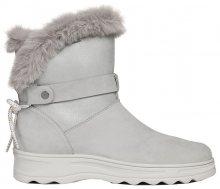 GEOX Dámské sněhule D Hosmos B Abx Lt Grey/Silver D84AUC-0322N-C1355 37