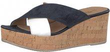 Tamaris Dámské pantofle 1-1-27218-20-787 Blue Suede/Wht 40