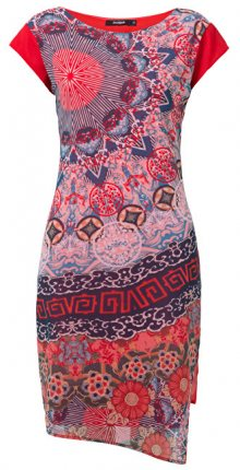 Desigual Dámské šaty Vest Japan Rojo Roja 19SWVWBU 3061 40