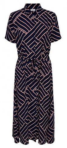 Jacqueline de Yong Dámské šaty JDYWIN TREATS S/S LONG DRESS WVN Sky Captain 34