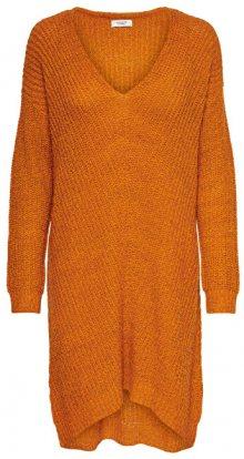 Jacqueline de Yong Dámské šaty JDYTAMMY L/S V-NECK DRESS KNT Autumn Maple S
