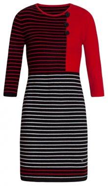 Smashed Lemon Dámské šaty 19678 Black/ Red S