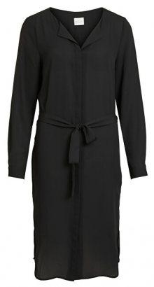 Vila Dámské šaty VILUCY L/S LONG SHIRT DRESS - FAV NX Black 34