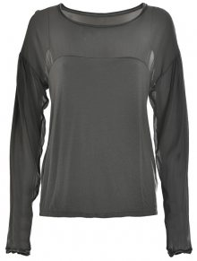 Deha Dámské triko Long Sleeve T-shirt D63350 Iron Grey L