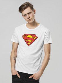 Tričko Superman Logo bílá XL
