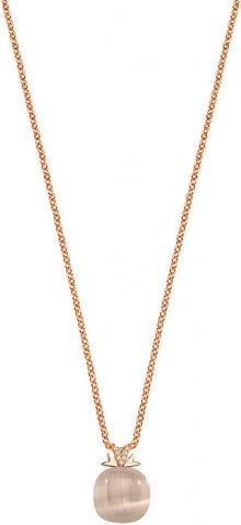 Morellato Růžově zlacený náhrdelník Gemma SAKK77 (řetízek, přívěsek)
