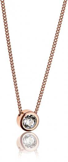 Emily Westwood Růžově pozlacený náhrdelník s krystalem WN1010R