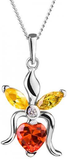 Preciosa Stříbrný náhrdelník s třpytivým přívěskem Silken 5066 60